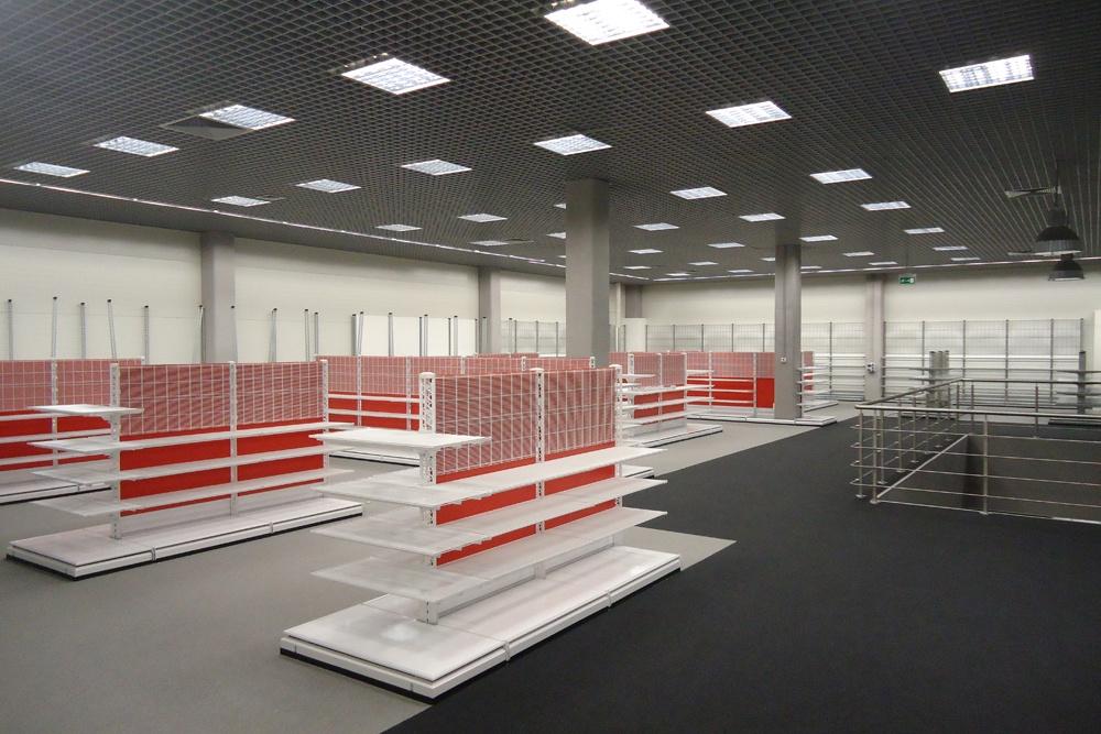 wykończenie pomieszczeń handlowych 5 - hala handlowa, dla Koopman International, Komorniki, woj. wielkopolskie