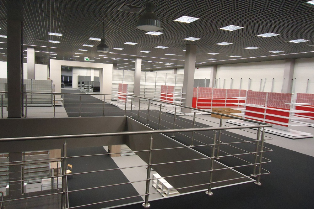 wykończenie pomieszczeń handlowych 6 - hala handlowa, dla Koopman International, Komorniki, woj. wielkopolskie