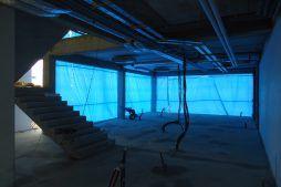 wnętrze budynku biurowego podczas budowy 1 - hala magazynowa z budynkiem biurowym, dla Hurtap SA, Głogów