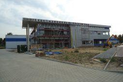 montaż paneli elewacyjnych - hala magazynowa z budynkiem biurowym, dla Hurtap SA, Głogów, woj. dolnośląskie