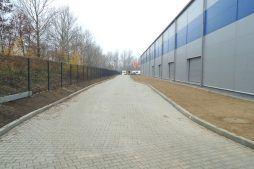 ściana boczna 4 - hala magazynowa z budynkiem biurowym, dla Hurtap SA, Głogów, woj. dolnośląskie