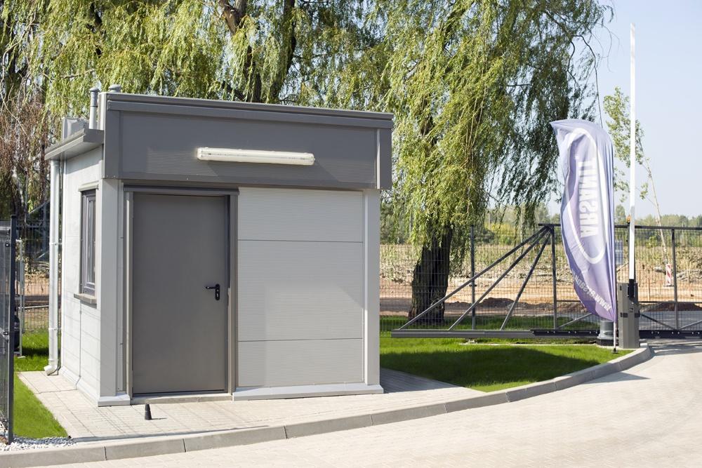 budka ochrony - hala produkcyjna z częścią biurową, dla Arsanit, Konin, woj. wielkopolskie