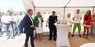 Przemówienie Dyrektora CoBouw Polska-hala produkcyjna dla firmy Spectra Lighting w Załuskach