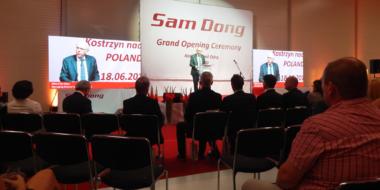 Przemówienie Dyrektora Zarządzajacego Sam Dong Europe-otwarcie fabryki Sam Dong Europe, Kostrzyn nad Odrą