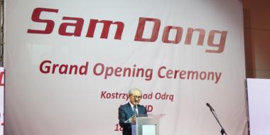 Przemówienie Prezesa Sam Dong Europe-otwarcie hali produkcyjnej Sam Dong Europe, Kostrzyn nad Odrą, woj. lubuskie