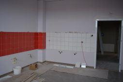 wnętrze części socjalno-biurowej - hala produkcyjno-magazynowa, Drewtur, Słodków, woj. wielkopolskie