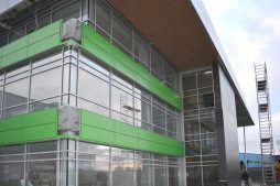 prace wykończeniowe elewacji - hala magazynowa z budynkiem biurowym, dla Koesters & Meyer, Malanów