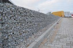 ściana oporowa - hala magazynowa z budynkiem biurowym, dla Koesters & Meyer, Malanów, woj. Wielkopolskie