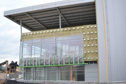 podkonstrukcja pod panele elewacyjne - hala magazynowa z budynkiem biurowym, dla Koesters & Meyer, Malanów