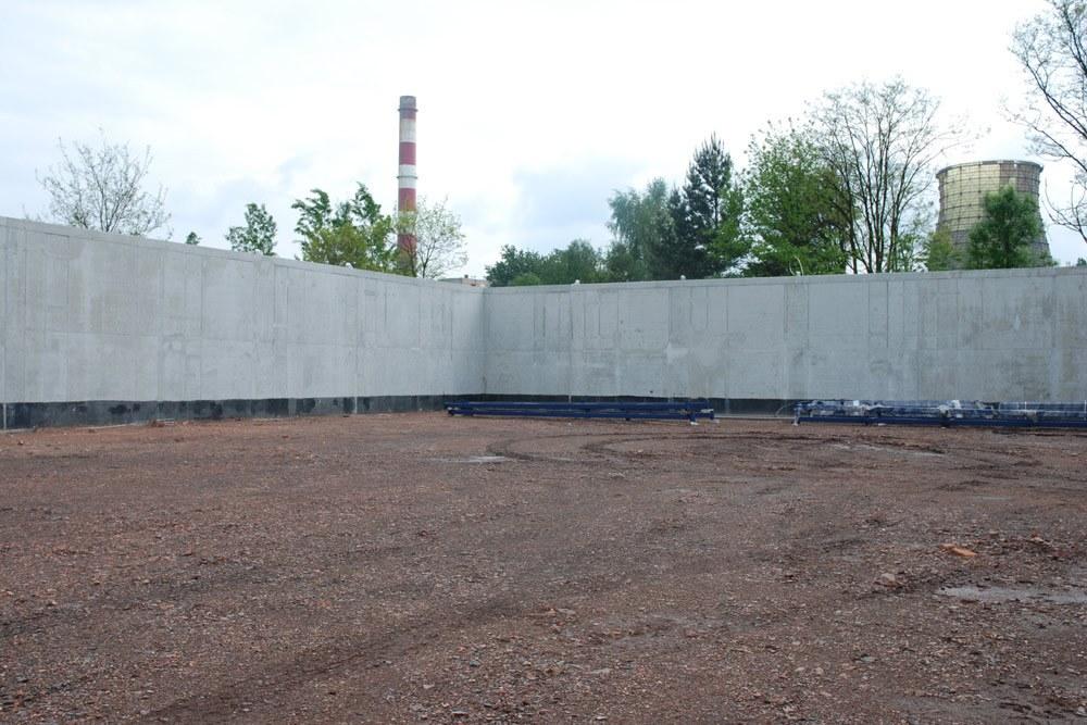 przygotowanie do montażu konstrukcji - hala przemysłowa, dla Van Gansewinkel, Ruda Śląska