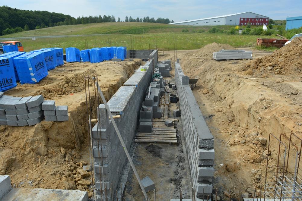 ściany konstrukcyjne - hala magazynowa, dla DKS, Kowale, woj. pomorskie