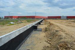 ściana fundamentowa - ścian konstrukcyjnych - hala magazynowa, dla DKS, Kowale