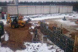 obsypywanie fundamentów - hala magazynowa, Firma Telmex, Pisz, woj. warmińsko-mazurskie