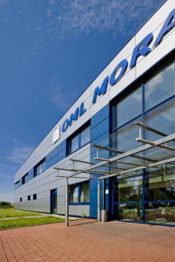 fragment elewacji frontowej - rozbudowa hali produkcyjnej, dla OML Morando, Czerwionka-Leszczyny