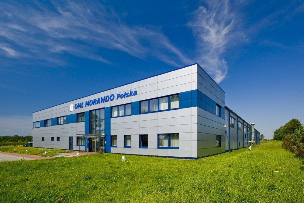 elewacja frontowa i boczna - rozbudowa hali produkcyjnej, dla OML Morando, Czerwionka-Leszczyny