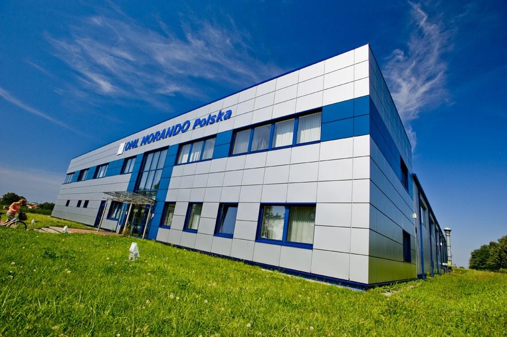 ściana frontowa i boczna - rozbudowa hali produkcyjnej, dla OML Morando, Czerwionka-Leszczyny