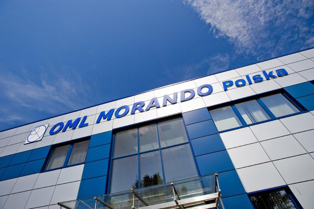 zbliżenie na logo inwestora - rozbudowa hali produkcyjnej, dla OML Morando, Czerwionka-Leszczyny