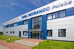 zbliżenie na wejście do budynku - rozbudowa hali produkcyjnej, dla OML Morando, Czerwionka-Leszczyny