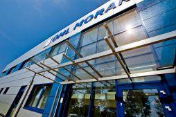 detal elewacyjny - hala produkcyjna z budynkiem biurowym, dla OML Morando, Czerwionka-Leszczyny