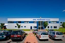 ściana frontowa - hala produkcyjna z budynkiem biurowym, dla OML Morando, Czerwionka-Leszczyny