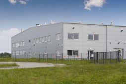 ściana boczna i frontowa - hala produkcyjna z budynkiem biurowym, dla NWM, Gubin, woj. lubuskie
