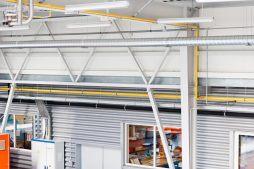 instalacje wewnętrzne - hala produkcyjna, dla Rollico Rolling Components, Lubliniec, woj. śląskie
