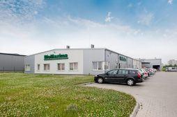 widok ogólny 2 - hala produkcyjna z częścią biurową, dla BioMaxima, Lublin, woj. lubelskie