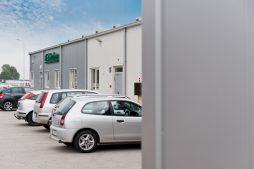 widok ogólny 4 - hala produkcyjna z częścią biurową, dla BioMaxima, Lublin, woj. lubelskie