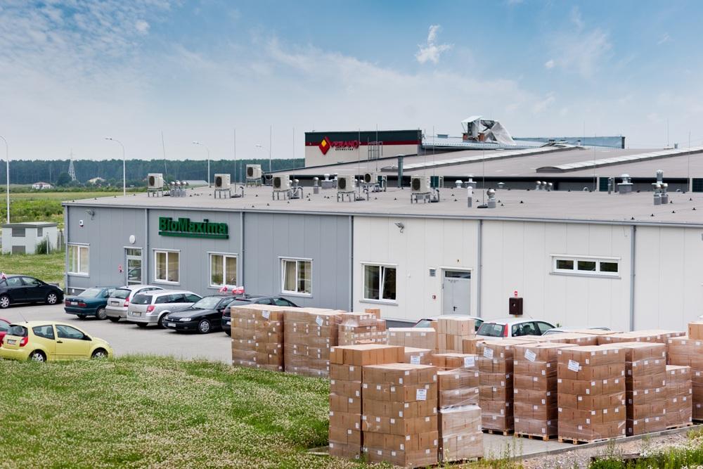 widok z góry 1 - hala produkcyjna z częścią biurową, dla BioMaxima, Lublin, woj. lubelskie