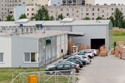 widok z góry - hala produkcyjna z częścią biurową, dla BioMaxima, Lublin, woj. lubelskie