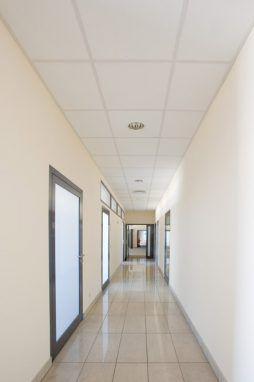 korytarz - hala produkcyjno-magazynowa z budynkiem biurowym, dla Promens, Międzyrzecz, woj. lubuskie