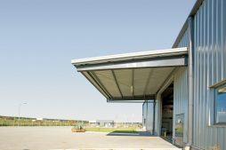 zadaszenie zewnętrzne - hala produkcyjno-magazynowa z budynkiem biurowym, dla Promens, Międzyrzecz, woj. lubuskie