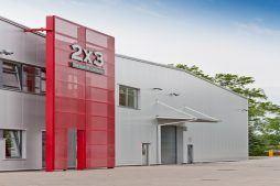 portal z blachy perforowanej - hala produkcyjno-magazynowa z częścią biurową, dla 2x3, Krzęcin