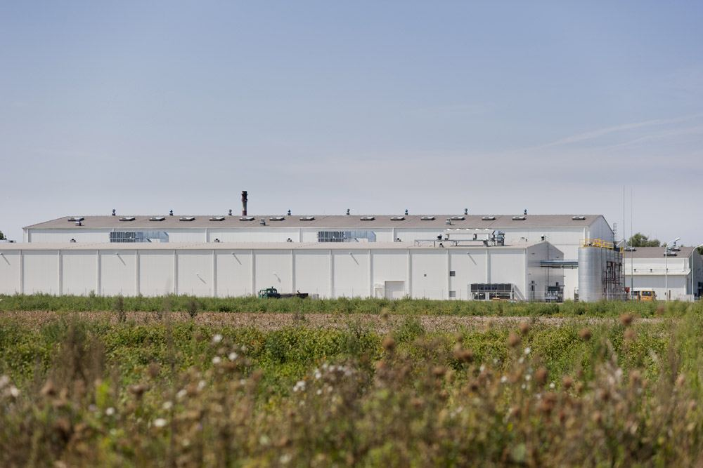 widok ogólny 6 - hala produkcyjna z zapleczem biurowym, dla Korona SA, Wieluń, woj. łódzkie