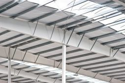 konstrukcja stalowa dachu - hala produkcyjna, dla Pilawa, Kołobrzeg, woj. zachodniopomorskie
