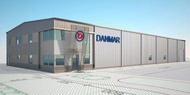 """Hala w systemie """"zaprojektuj i zbuduj"""" dla firmy Danmar"""
