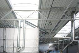 zadaszenie budynku z świetlikiem - hala produkcyjna z częścią biurową, dla Arsanit, Konin