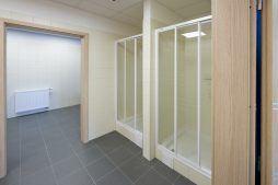 pomieszczenie sanitarne - hala produkcyjna z częścią biurową, dla Arsanit, Konin, woj. wielkopolskie