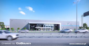 wizualizacja hali dla EGA - projekt i budowa pod klucz, woj. mazowieckie, miejscowość Blizne Łaszczyńskiego