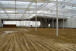 konstrukcja stalowa - hala produkcyjna z częścią socjalną, dla Fadome, Złotniki, woj. opolskie