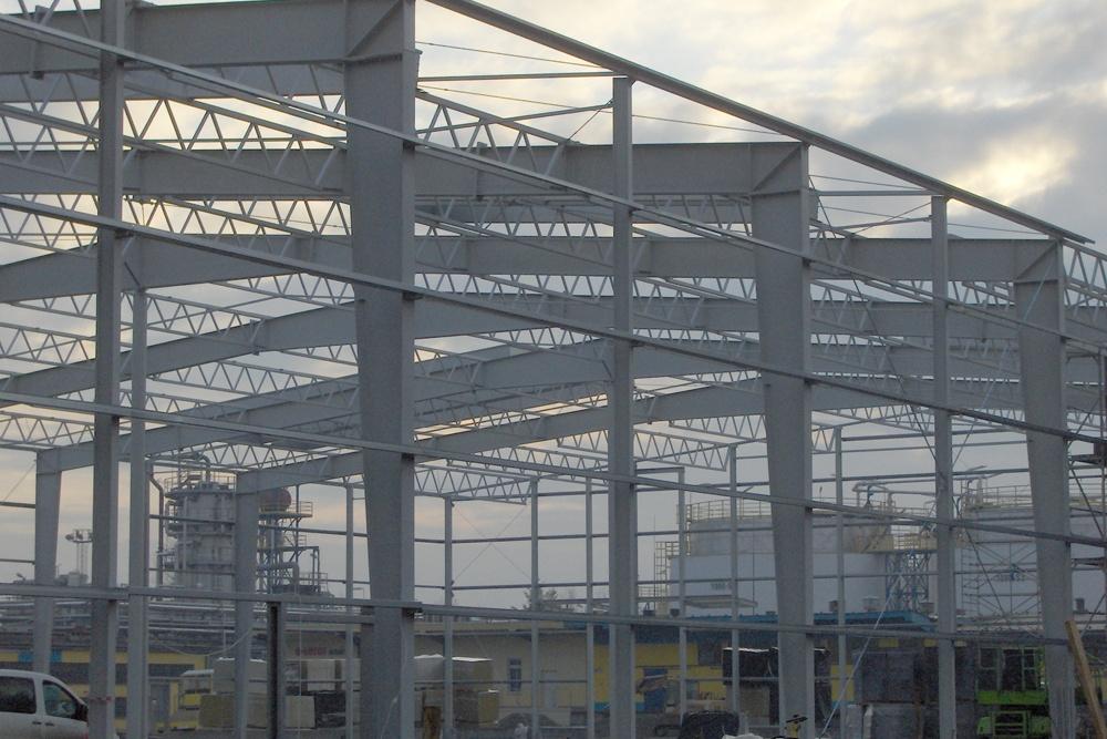 konstrukcja blachownicowa 1 - hala produkcyjna, dla Lotos, Jasło, woj. podkarpackie