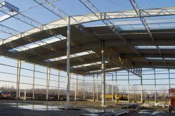 konstrukcja stalowa - hala produkcyjna, dla Lotos, Jasło, woj. podkarpackie