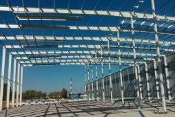 konstrukcja stalowa od wewnątrz - hala magazynowa, dla Szpec-Bud, Kobylnica, woj. pomorskie