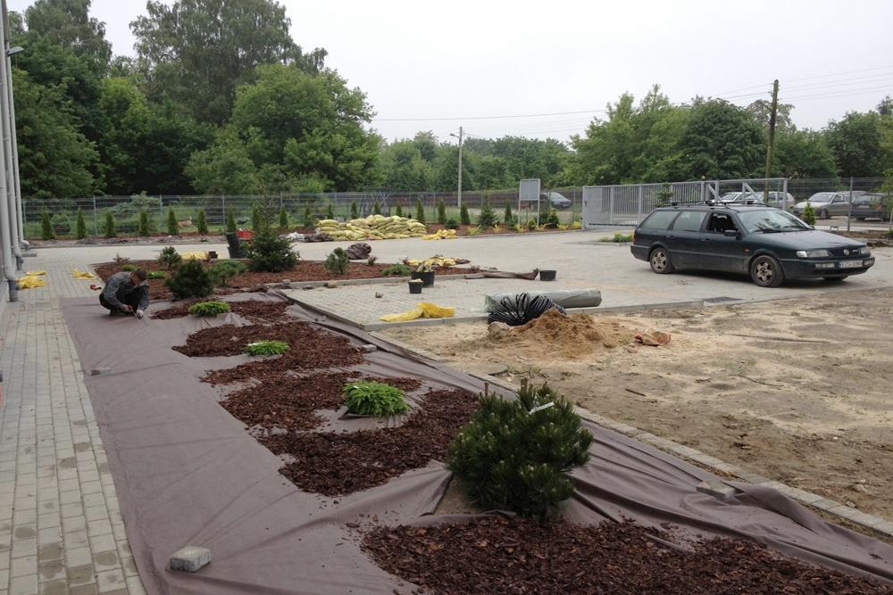prace ogrodnicze - hala produkcyjna z częścią socjalno-biurową, dla Danmar, Łódź, woj. łódzkie