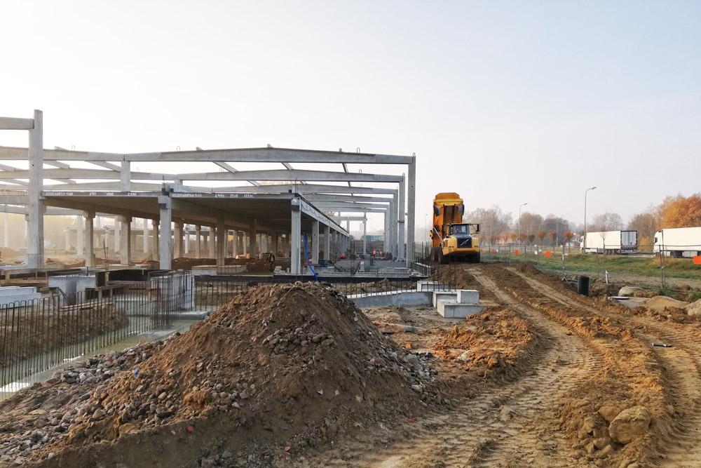 etap prac budowlanych - hala produkcyjno-magazynowa z częścią socjalno-biurową, Linea, Koszalin