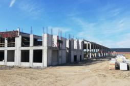 prace przy budowie budynku socjalno-biurowego - hala produkcyjno--magazynowa z częścią socjalno-biurową, dla Linea, Koszalin