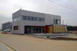 konstrukcja pod montaż blachy sinusowej - sortownia i przechowalnia owoców z częścią biurową, dla Gaik, Witalówka