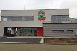 ściana frontowa 1 - sortownia i przechowalnia owoców z częścią biurową, dla Gaik, Witalówka