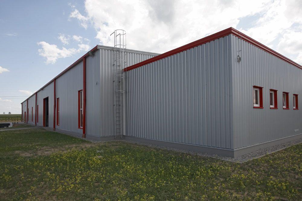 ściana boczna i tylna - hala produkcyjna, dla Filtry Haft, Gorzów Wielkopolski, woj. lubuskie