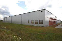 widok ogólny - hala produkcyjno-magazynowa, dla HTMP, Gorzów Wielkopolski, woj. lubuskie